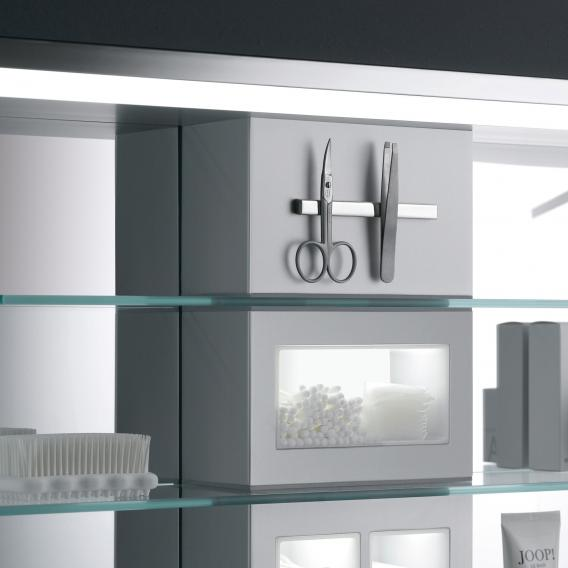 Emco Prestige wall-mounted illuminated mirror cabinet wide door right