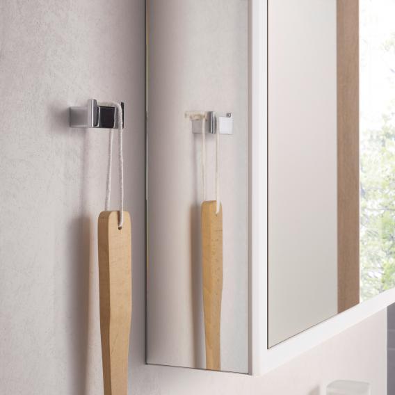 Emco Prime mounted LED illuminated mirror cabinet with lighting package 2 doors aluminium/mirrored
