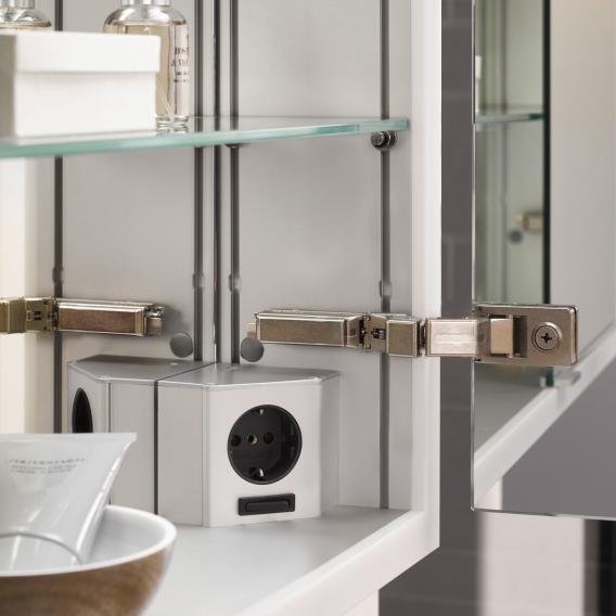 Emco Prime2 mounted LED illuminated mirror cabinet, 2 doors