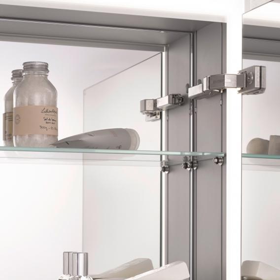 Emco Prime2 recessed LED illuminated mirror cabinet, 3 doors