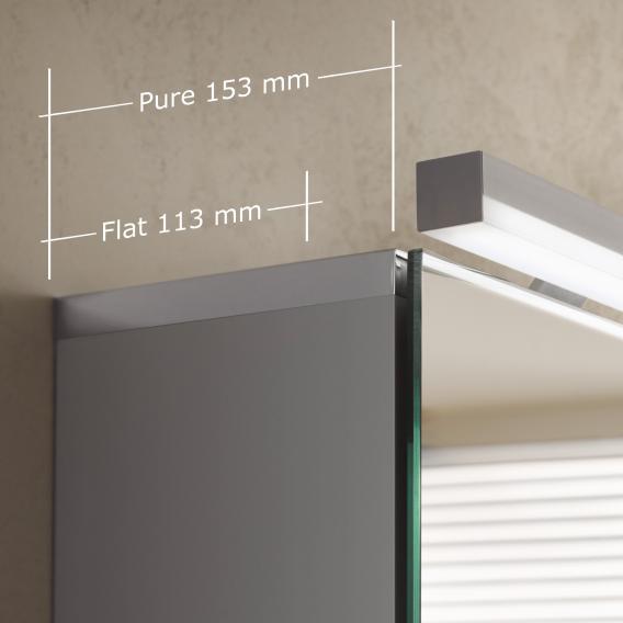 Emco Pure_Flat wall-mounted illuminated mirror cabinet