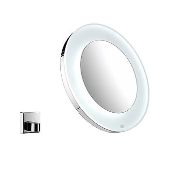 Emco Universal LED battery operated beauty mirror round