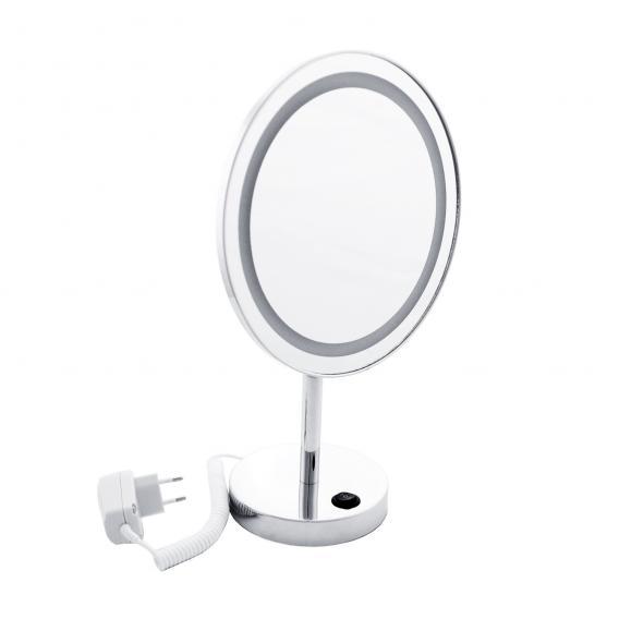 Emco Universal LED shaving and beauty mirror, round, freestanding