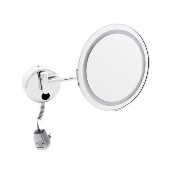 Emco Universal LED shaving and beauty mirror, round, wall-mounted