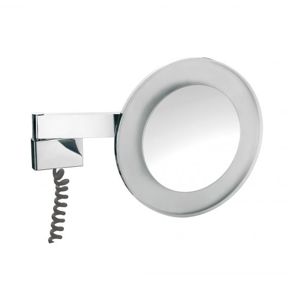 Emco Universal LED shaving / beauty mirror, round, wall-mounted, with 5x magnification chrome