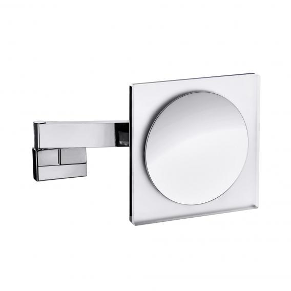 Emco Universal LED shaving / beauty mirror, square, wall-mounted, with 3x magnification chrome