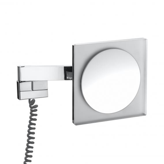 Emco Universal LED shaving / beauty mirror, square, wall-mounted, with 5x magnification