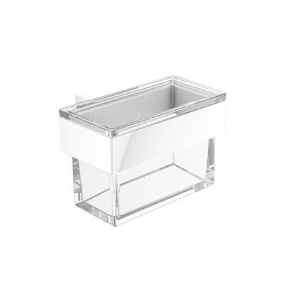 Emco Vara design glass container for soap dispenser or utensil box