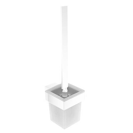Emco Vara design glass container for toilet brush set