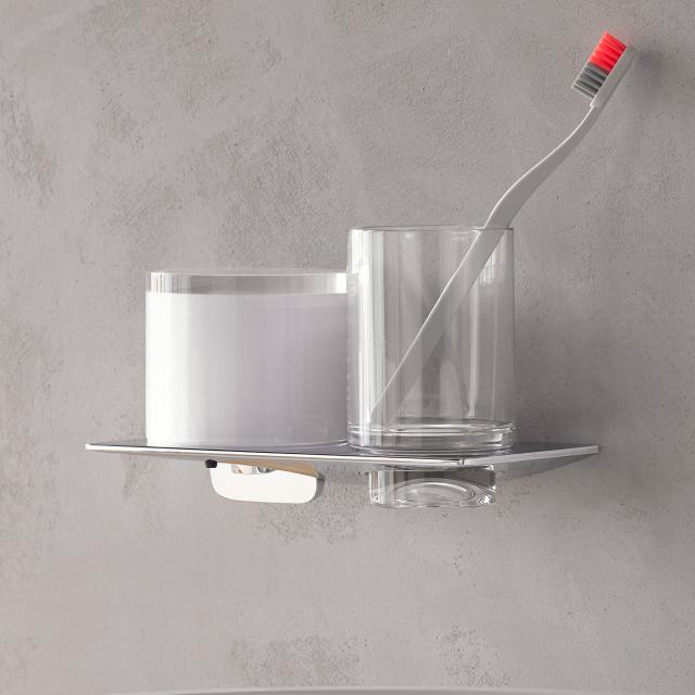 Emco Art liquid soap dispenser and tumbler holder set