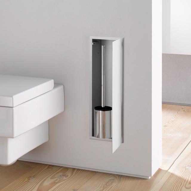 Emco Asis 2.0 concealed toilet brush set module optiwhite