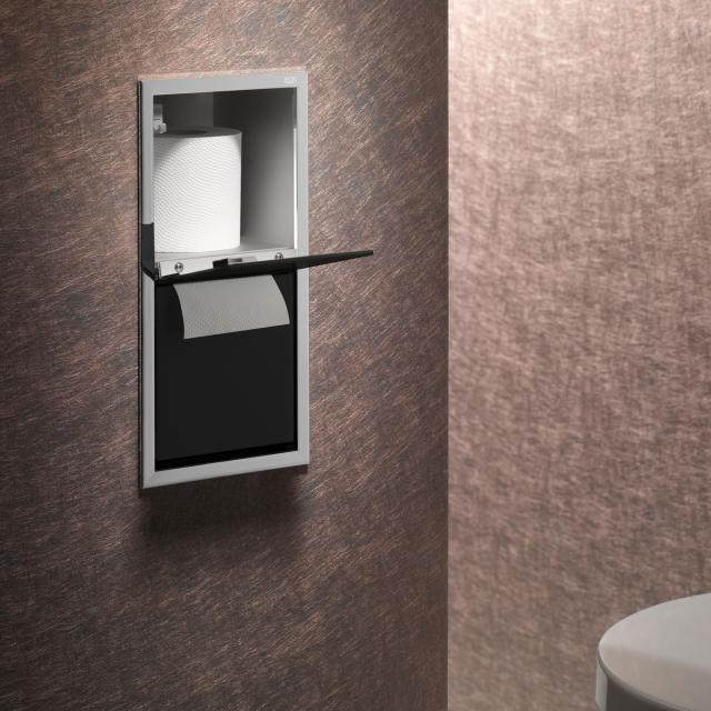 Emco Asis concealed module for toilet paper chrome/black
