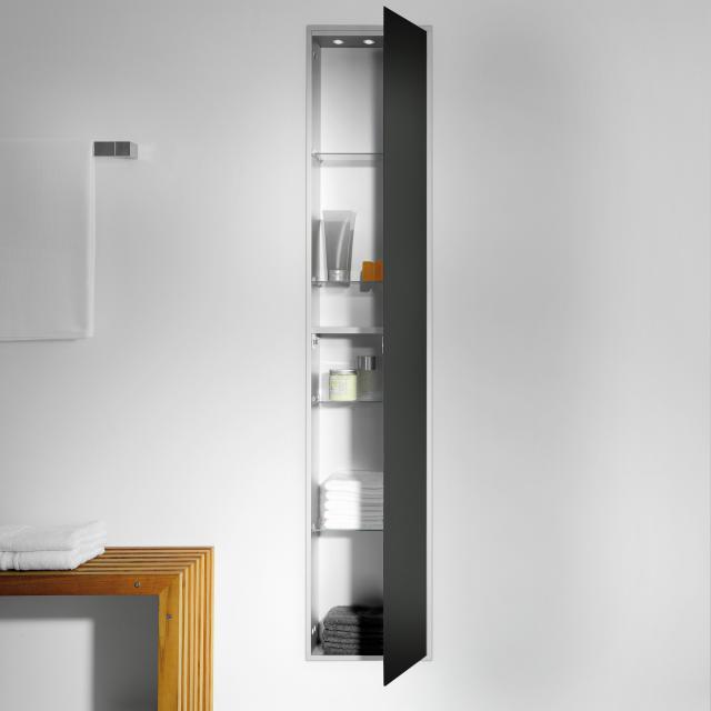 Emco Asis concealed cabinet module black/aluminium