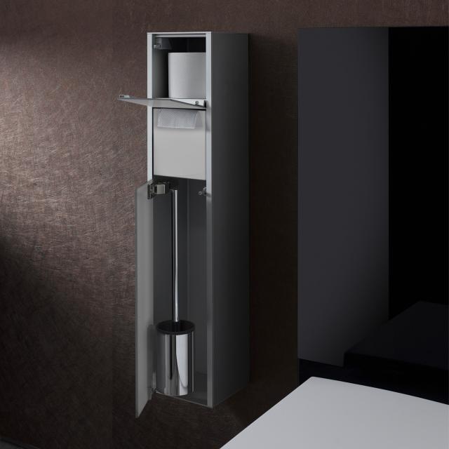 Emco Asis wall-mounted toilet module optiwhite/aluminium