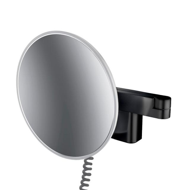 Emco Evo LED shaving and beauty mirror with spiral cable and plug black