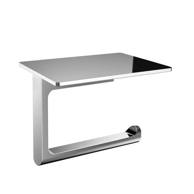 Emco Flow toilet roll holder with shelf