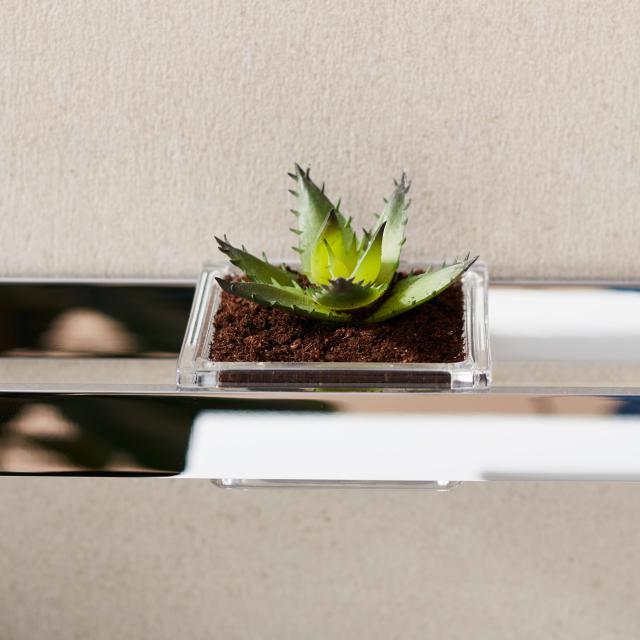 Emco Liaison glass bowl for rail square flat