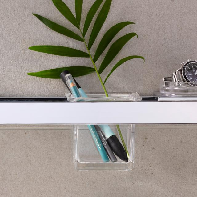 Emco Liaison glass bowl for rail square flat for rial