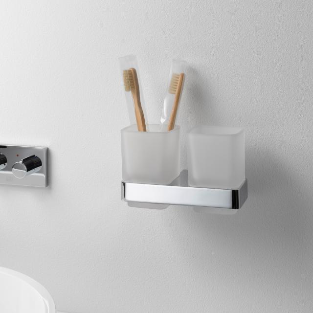 Emco Loft double tumbler holder, wall-mounted