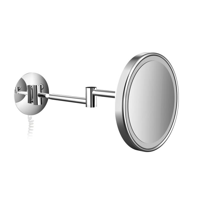 Emco Pure LED shaving and beauty mirror with spiral cable
