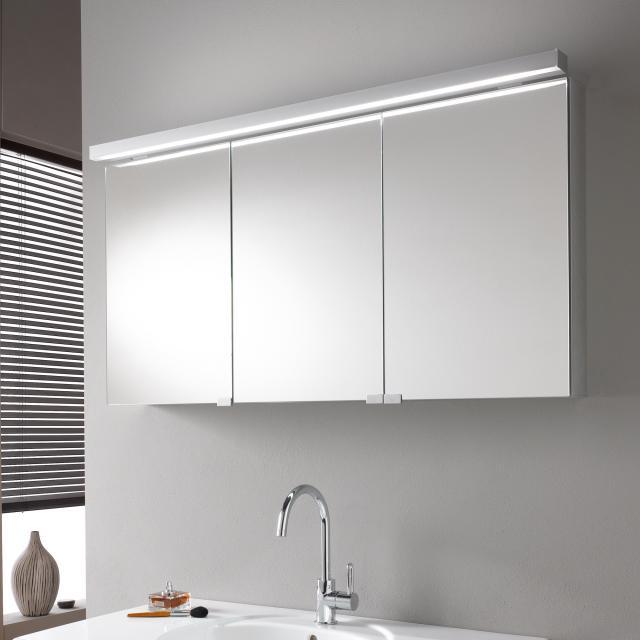 Emco Pure_Flat wall-mounted illuminated mirror cabinet without washbasin lighting