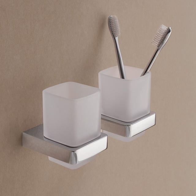 Emco Trend glass holder, wall-mounted