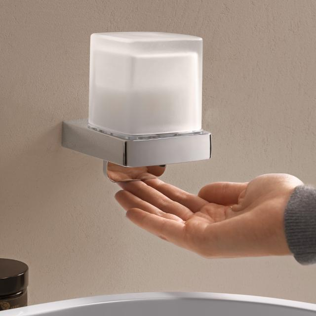 Emco Trend liquid soap dispenser with cover cup