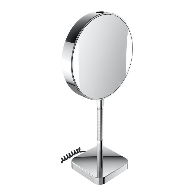 Emco Universal LED shaving / beauty mirror, round, free-standing, with power supply
