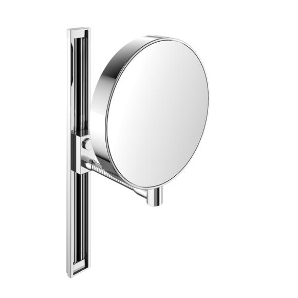 Emco Universal shaving / beauty mirror, round, wall-mounted