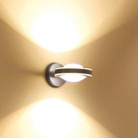 Escale VIO LED wall light 2 heads with lens/lens