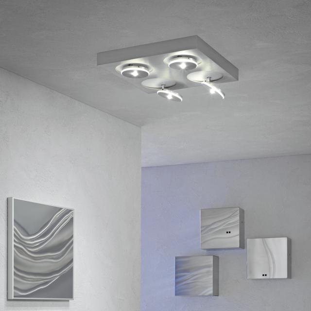 Escale Spot it LED ceiling light/spotlight 4 heads, square