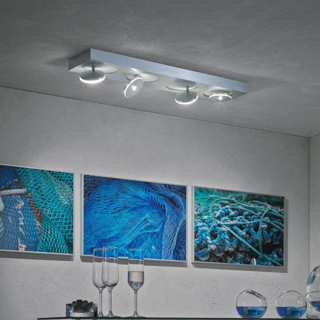 Escale Spot it LED ceiling light/spotlight 4 heads, long