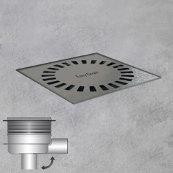 ESS Aqua Brilliant Multi floor drain including cover L: 15 W: 15 cm
