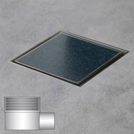 ESS Aqua Jewels Quattro floor drain including cover for tile, horizontal connection L: 15 W: 15 cm