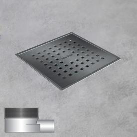 ESS Aqua Plus Quattro floor drain including cover, horizontal connection DN40 L: 15 W: 15 cm, horizontal