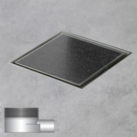 ESS Aqua Quattro floor drain including cover for tile, horizontal connection DN40 L: 10 W: 10 cm, horizontal