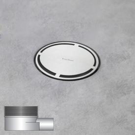 ESS Aqua Round floor drain including cover, horizontal connection DN40