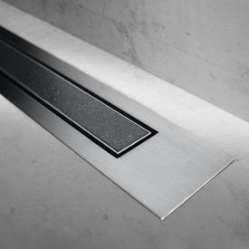 ESS Modulo Design Z-4 tileable cover for shower channel: 120 cm, brushed stainless steel/tileable