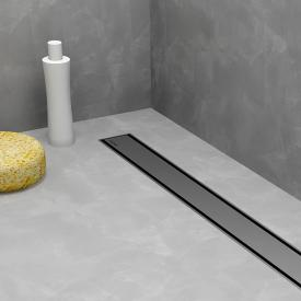 ESS Modulo TAF Low 30 shower channel including cover Zero L: 80 cm, brushed stainless steel