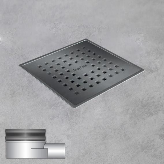 ESS Aqua Quattro floor drain including cover, horizontal connection DN40 L: 15 W: 15 cm