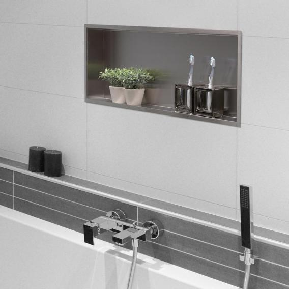ESS Container BOX wall recess with frame recess brushed stainless steel / frame brushed stainless steel