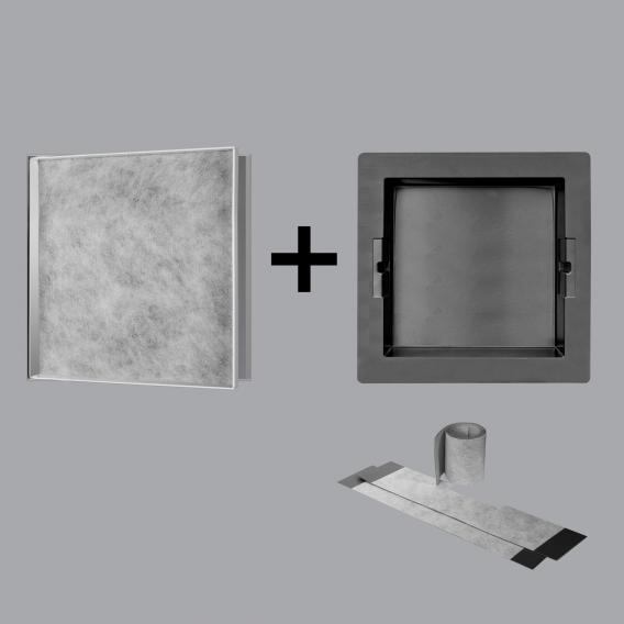 ESS Container T-BOX wall niche, tileable polished stainless steel