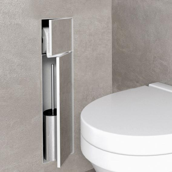 ESS Container T-ROLL built-in toilet brush holder and recess white