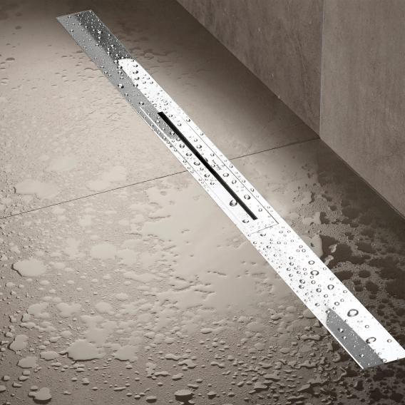 ESS R-Line Waterstop shower channel including cover brushed stainless steel polished stainless steel