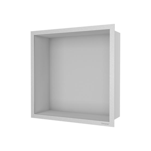 ESS Container F-BOX wall recess with NEW frame recess brushed stainless steel / frame brushed stainless steel