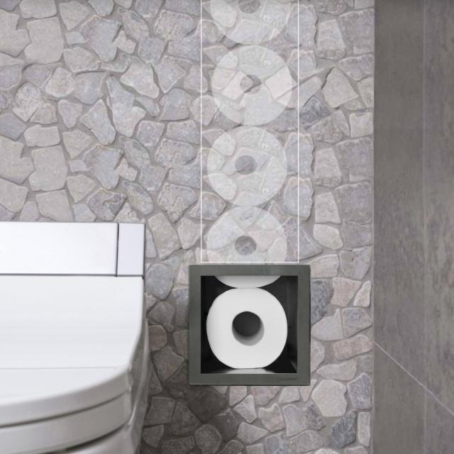 ESS Container ROLL spare toilet roll dispenser, tileable