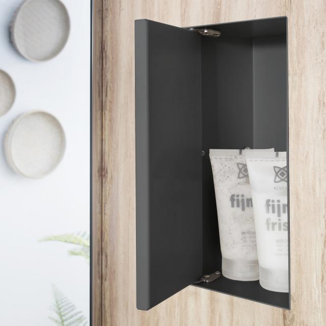 ESS Container T-BOX wall recess with 1 door, tileable anthracite