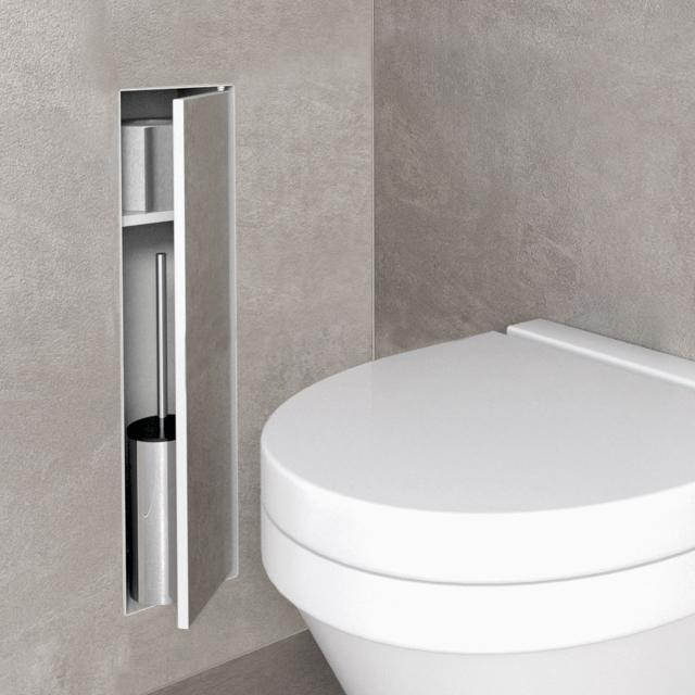 ESS Container T- ROLL toilet brush set with compartment, tileable white