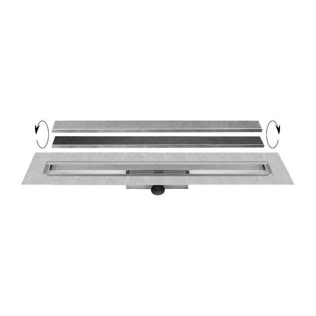 ESS Easy Drain Compact TAF incl. height adjustable and rotatable cover L: 80 cm
