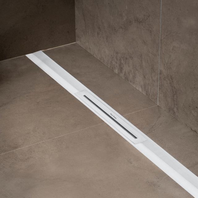 ESS R-Line Waterstop shower channel including cover brushed stainless steel brushed stainless steel